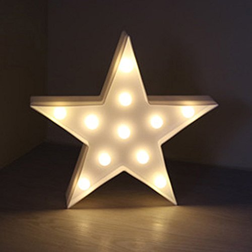 Cute Little Star 3D LED Night Light Baby Boys Girls Bedroom Decorative Lamp Home Living Room Party Holiday Birthday Decoration Gift for Girlfriend by Alrens