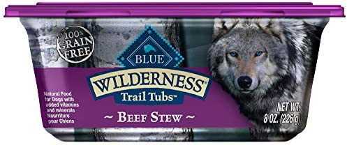Blue Buffalo Wilderness Trail Tubs High Protein Grain Free Natural Adult Wet Dog Food Tub
