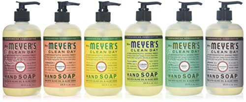 Mrs. Meyers Clean Day Liquid Hand Soap 6 Scent Variety Pack, 12.5 oz Each ()
