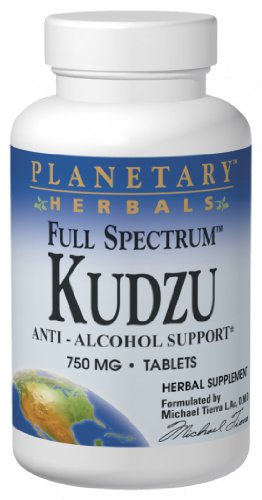 Planetary Herbals Kudzu Full Spectrum 750 mg, Anti-Alcohol Support,240 Tablets