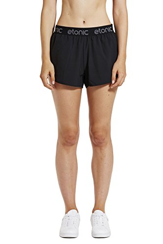 Etonic Women's Fluid Running Shorts, Black, - No Liner Shorts Running