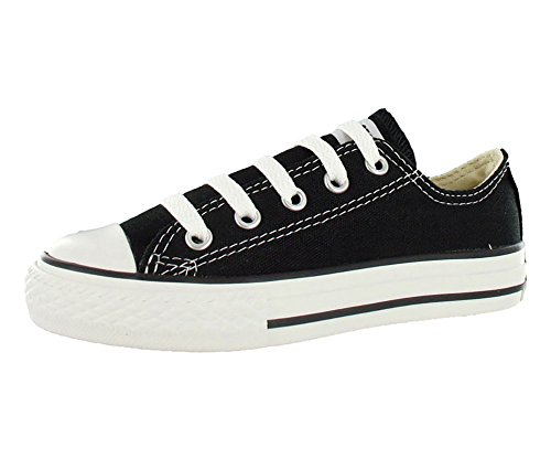 Converse Kid's Chuck Taylor All Star Low Top Shoe, black, 3 M US Little Kid