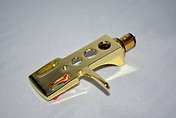Dorado pastilla de soporte con ranuras de oro conector para ...