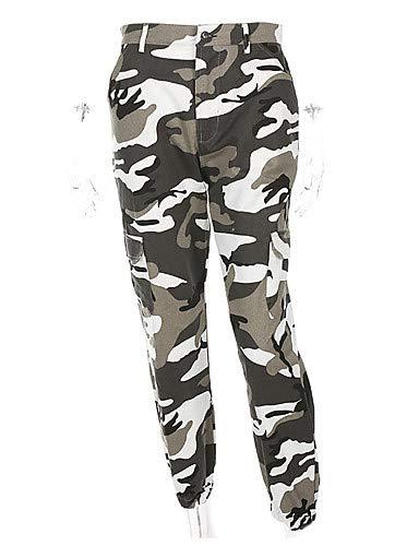 Camuflaje Deportivo Sueltos Aspecto Vaqueros YFLTZ Las de Activos Impresión Gray caída de Invierno Mujeres Pantalones Subida Pantalones ZqxvFUw