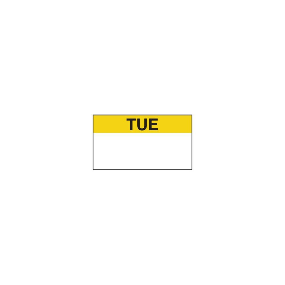 Ecolab 12011-02-11 Tuesday 1 Line Gun Label - 10,000/PK