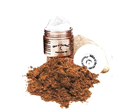 Slice of the Moon: Flashing Bronze Mica Powder 15g, Natural Mineral Mica, Cosmetic Grade For Lipstick Lip gloss Bath Bombs Epoxy Resin Face Blush Powder Eye pencil Dye Pigments Candle Making