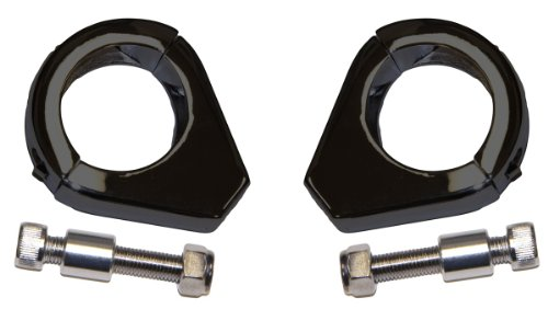 (Yana Shiki SRC-299-001-BLK Turn Signal Relocator Clamp for Harley-Davidson All Models with 39mm Fork Tubes, Black)