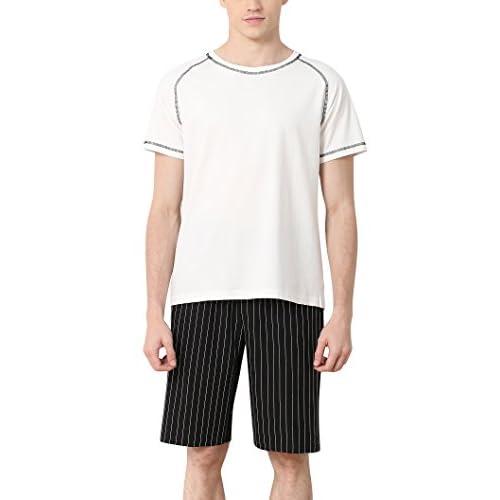 428d87f5e6 Dolamen Homme Pyjamas, 2018 Hommes Ensemble de Pyjama Printemps été  vêtements de sport Coton Ensemble