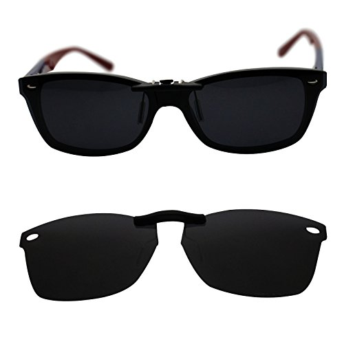 oGeee Custom Polarized Clip On Sunglasses for RAY-BAN RB5228 (55mm) 55-17-140 - Clip On Rb5228
