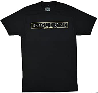 Star Wars Rogue One Movie Poster Logo T-shirt (Extra Large , Heather Black)