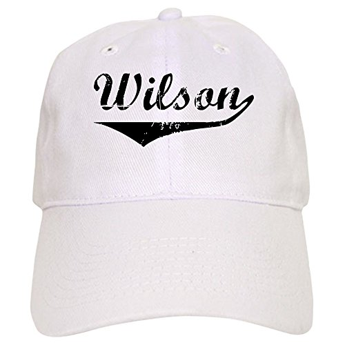 - CafePress Wilson Vintage (Black) Baseball Cap with Adjustable Closure, Unique Printed Baseball Hat