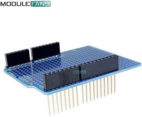 Carvicto Prototype PCB Board For Arduino UNO R3 ATMEGA328P Shield Board Breadboard Protoshield DIY FR-4 2.54mm 2mm Pitch Hole One
