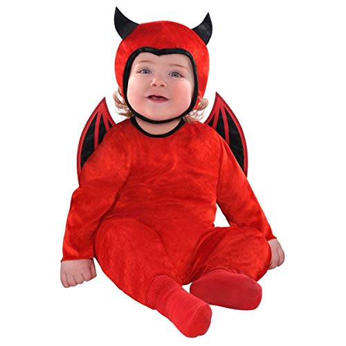 Amscan 846797 Baby Cute As A Devil Costume, Size 0-6 Months, Red -