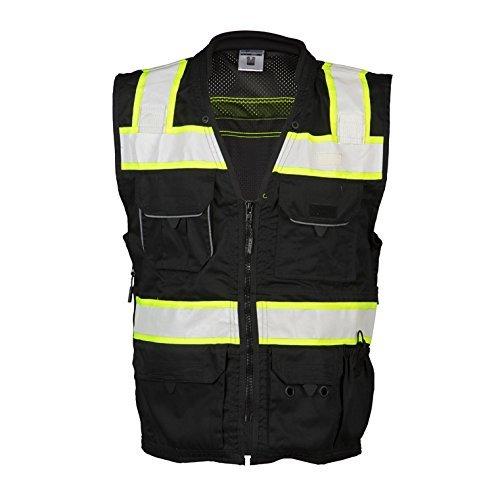 ML Kishigo - Black Heavy Duty Safety Vest Size: 2X-large