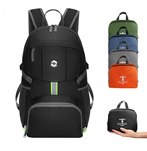 OlarHike Lightweight Travel Backpack, 35L Water Resistant Packable Traveling/Hiking Backpack Daypack for Men & Women, Multipurpose Use - Grey