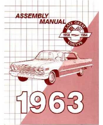 amazon com 1963 chevrolet belaire biscayne impala assembly manual rh amazon com 1963 chevrolet impala assembly manual 1963 impala assembly manual pdf