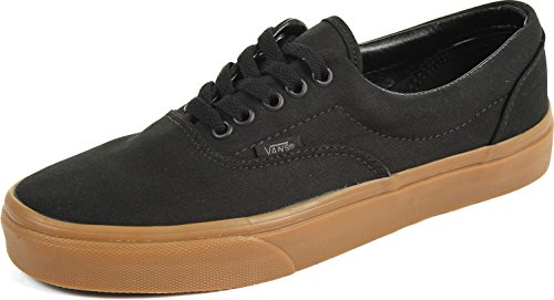 Vans Unisex Era Black/Classic Gum Skate Shoe 9 Men US / 10.5 Women US ()