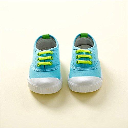 ALUK- Zapatos de niños de lona Zapatos blancos pequeños Zapatos de bebé Zapatos de estudiantes ( Color : Azul claro , Tamaño : 29 ) Azul claro