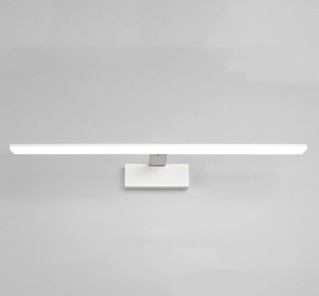 badezimmerlampe LED Edelstahl Spiegel Lampe Spiegel Licht Badezimmer Leuchte Wandleuchte Badezimmer Lampe LED Spiegel Licht Badezimmer Lampe Warm Weiß [Energieklasse A +]