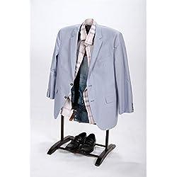 Homenetics Deluxe Hardwood Clothes Valet Stand (Espresso)