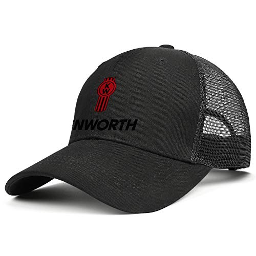 LHSPOSIFD Unisex Mens Baseball Hat Cotton Adjustable Mesh Strapback-kenworth-w900-Trucks-Flat ()