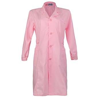 Amazon Com Jili Online White Pink Lab Coat Hygiene Food