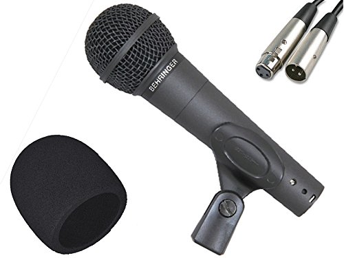 Behringer Dynamic Mic (Behringer XM8500 Handheld Vocal Microphone with XLR Cable (20') & FREE Foam Windscreen Kit)