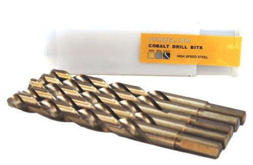 - 3/8-Inch Cobalt Drill Bit, 135 Split Point Tip, Tri-Cut Shank, 5 Pack