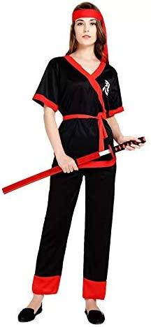 thematys® Disfraz de Samurai Ninja para Mujer Cosplay, Carnaval y ...