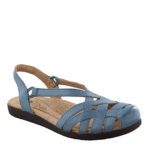 EARTH ORIGINS Women's, Nellie Low Heel Sandals Blue 12 M