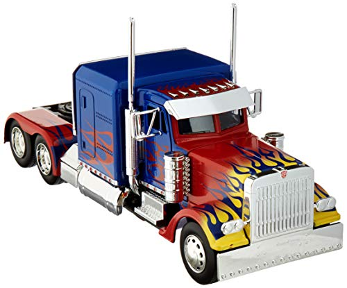Optimus Prime Vehicle - Optimus Prime Truck with Robot on Chassis from Transformers Movie Hollywood Rides Series Diecast Model by Jada 30446
