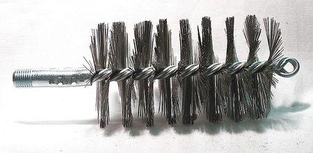 Flue Brush, Dia 2 3/4, 1/4 MNPT, Length 8 Dia Flue Brushes
