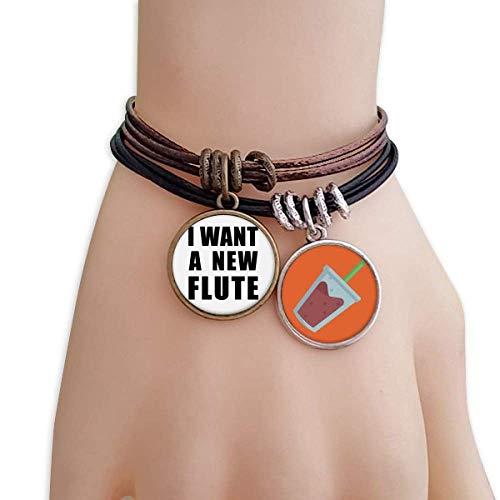 (DIYthinker I Want A New Flute Bracelet Rope Juice Wristband)
