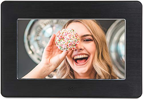 - Micca 7-Inch Digital Photo Frame High Resolution Widescreen LCD, MP3 Music 1080P HD Video Playback, Auto On/Off Timer (Model: N7, Replaces M707z)