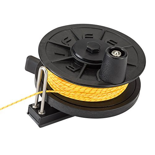LOW-PRO Horizontal Reel (125 ft. x 600 lb. Spectra Line) - RADIAL MOUNT by Riffe by Riffe