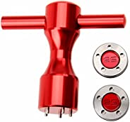 2Pcs Golf Putter Red Weights & Red Wrench Tool Kit,(5g/10g/15g/20g/25g) for Titleist Scotty Cameron Put
