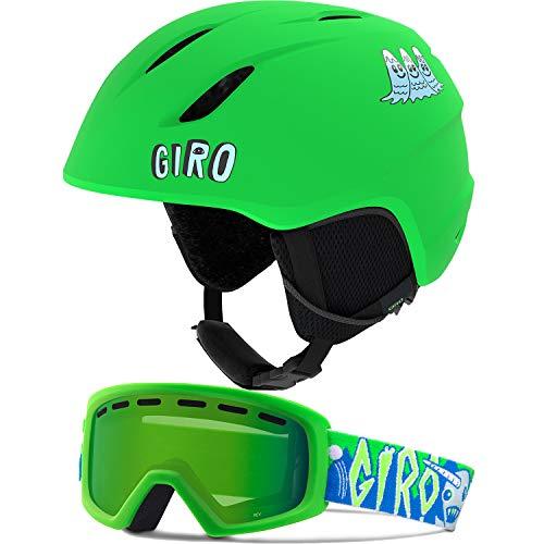Giro Launch CP Matte Bright Green/Gnarwall Flash S (52-55.5CM) (Best Toddler Ski Helmet)