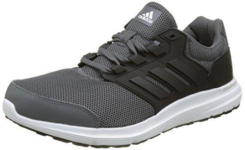 adidas Herren Laufschuhe Galaxy 4 Trainer Cloudfoam Training Gym BB3566 Neu Grau-schwarz-weiß