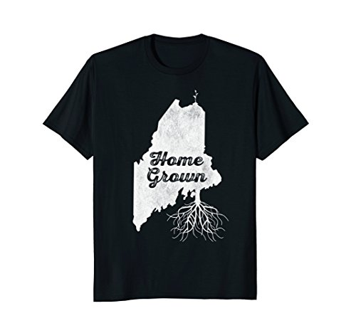 Home T Shirt Maine Roots ME Distressed State Pride - The Maine Store