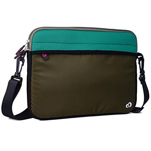 Kroo Tablet/Laptop Hülle Sleeve Case mit Schultergurt für HP 10Plus/ProPad 600 grün grün grün pR6wqDR