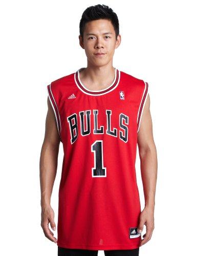 NBA Chicago Bulls Red Replica Jersey Derrick Rose #1, XX-Large ()
