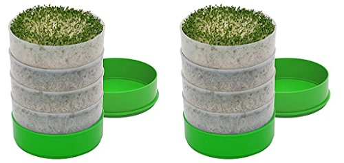Deluxe Kitchen Crop 4-Tray Seed Sprouter by VICTORIO VKP1200 (2-Pack) -