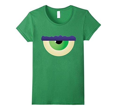 Female Cyclops Costumes (Womens Kids Halloween Costume Monster Eye Cyclops T-shirt Large Grass)