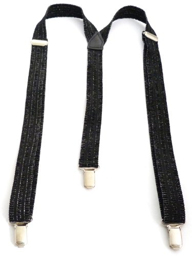 Flexible Pantalon ntäger Longueur réglable 2,5cm Largeur Noir O84