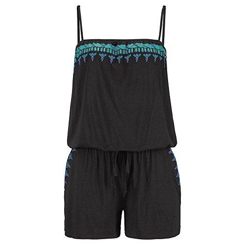 ... SHOBDW Damen Jumpsuits Womens Holiday Casual Mini Spielanzug Damen  Overall Sommer Strand Spielanzug Schwarz 4GoXF ... 4b01fc4acc