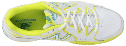 888098094114 - New Balance Women's WC786 Tennis Shoe,White/Yellow,7.5 2A US carousel main 6