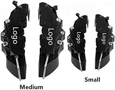 KQZLLL 4 Stücke Auto Bremssattel Abdeckung Universal 17 Zoll Vorne und Hinten 3D Scheibenbremssattel Abdeckung 2 Stücke Medium und 2 stücke Kleine