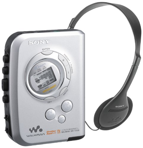 sony walkman cassette player. amazon.com: sony wm-fx488 walkman stereo cassette player with tv and weather channel reception: home audio \u0026 theater