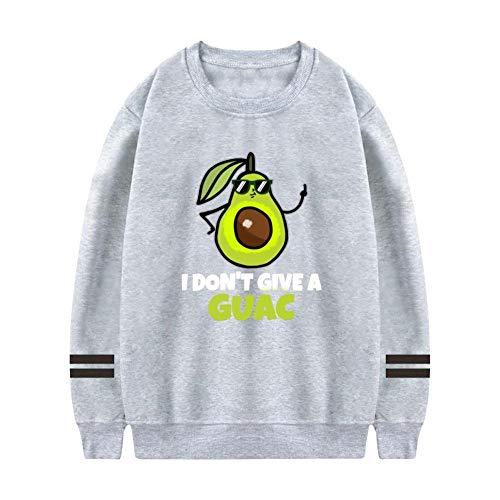 NNaseg Mens Sweatshirt   Funny Avocado I Don't Give A Guac Trend Element Printed Soft Cotton Long Sleeves t Shirt M Gray -
