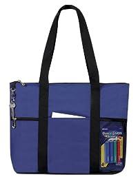 Zipper Travel Tote Sports Gym Bag, Navy